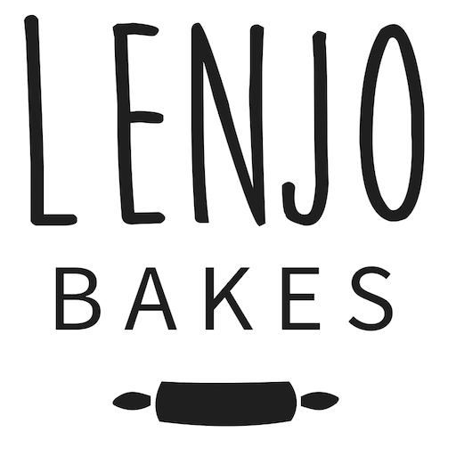 LenJo Bakes – Black Logo (Square)